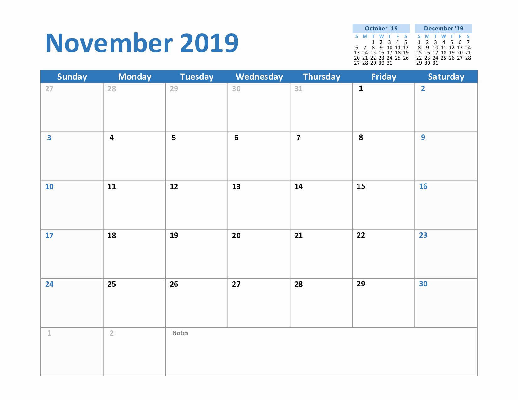 Excel Calendar 2019 Template Awesome Free November 2019 Printable Calendar In Pdf Excel and