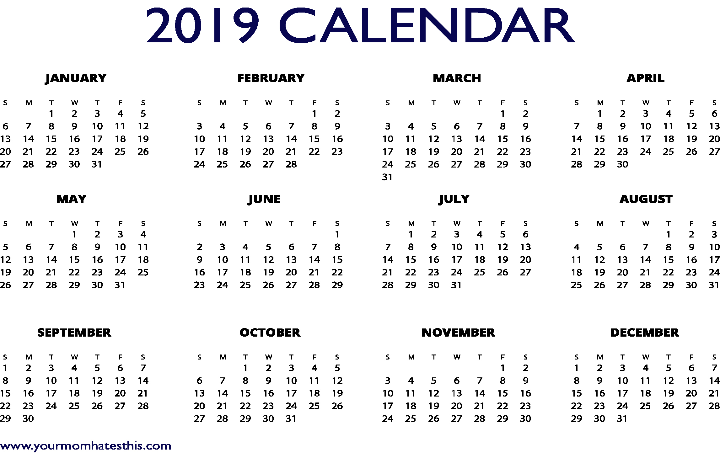 Excel Calendar 2019 Template Fresh 2019 Calendars Download Pdf Templates