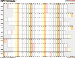 Excel Calendar 2019 Template Lovely 2019 Calendar Download 18 Free Printable Excel Templates