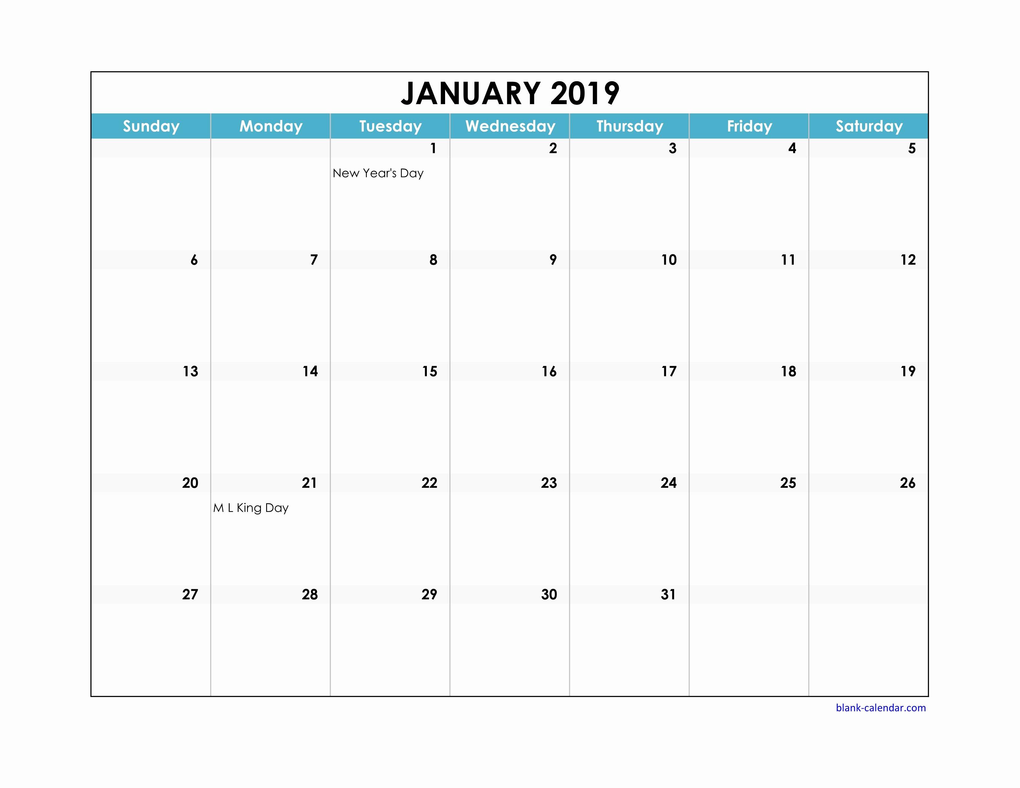 Excel Calendar 2019 Template Unique Template Calendar 2019 Excel