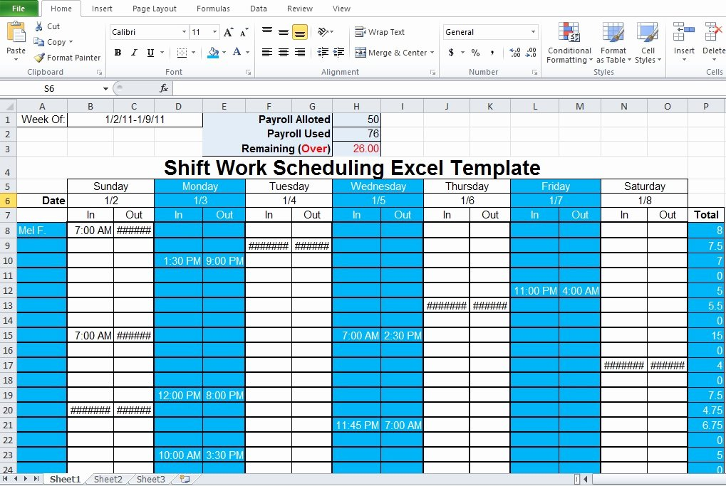 Excel Employee Schedule Template Awesome Employee Shift Schedule Generator Excel Template Excel Tmp