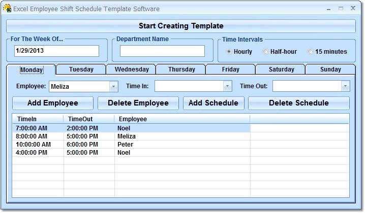 Excel Employee Schedule Template Elegant Excel Employee Shift Schedule Template software Free