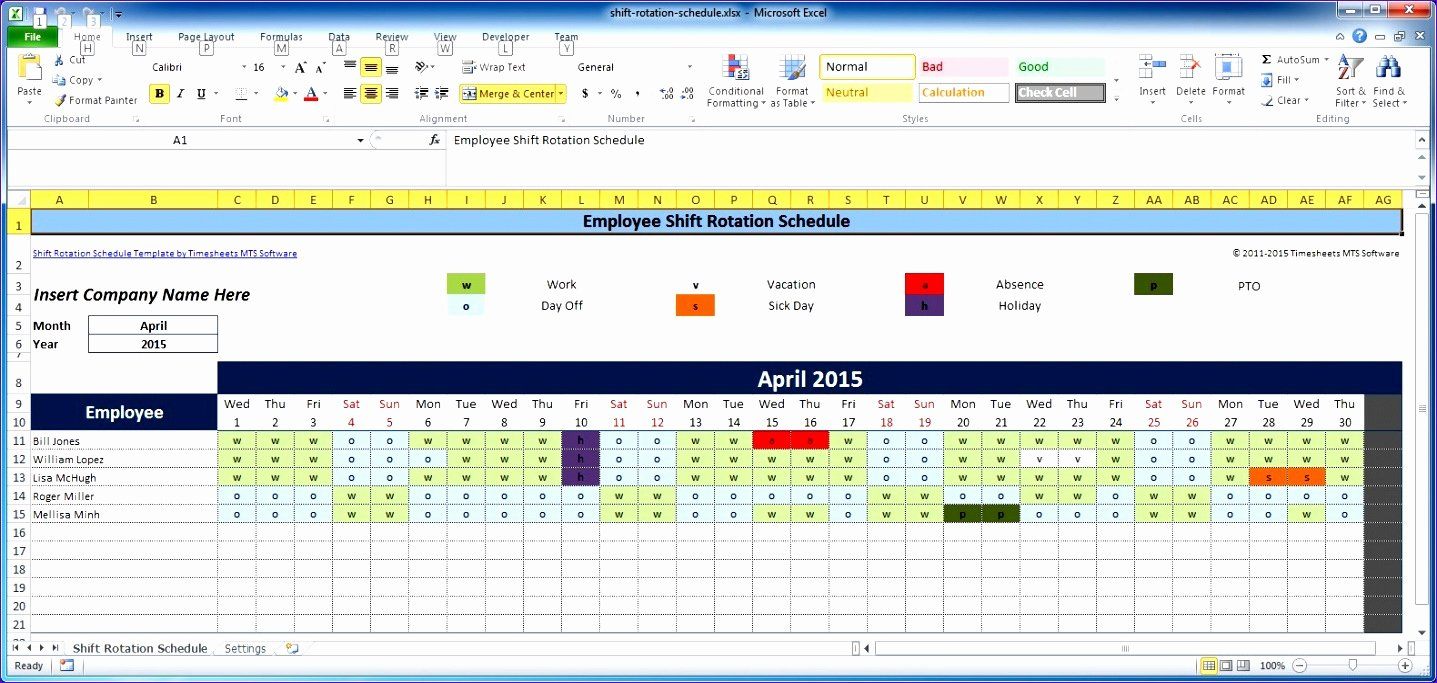 Excel Employee Schedule Template Fresh 7 Free Excel Timesheet Template Multiple Employees