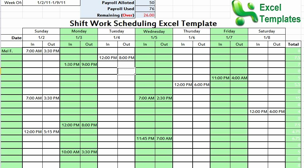 Excel Employee Schedule Template Inspirational Other Template Category Page 1 Izzness