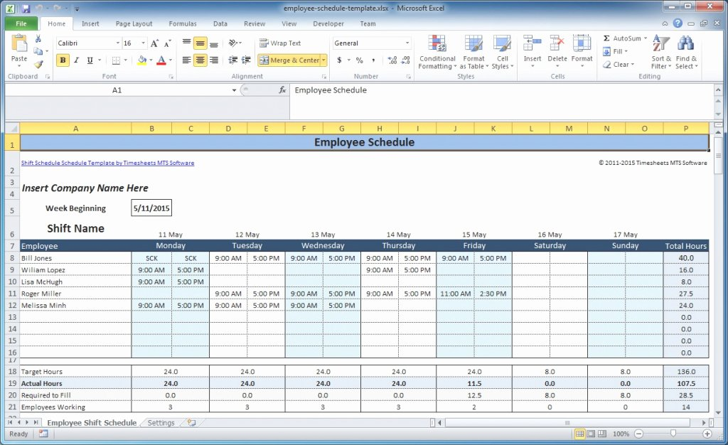 Excel Employee Schedule Template Lovely Downloadable Template Of Free Employee and Shift Schedule