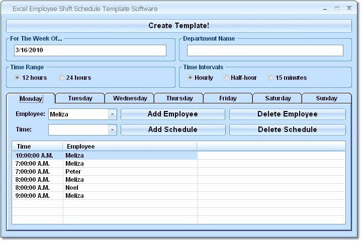 Excel Employee Schedule Template New Business software Work Schedule Program Daninternet