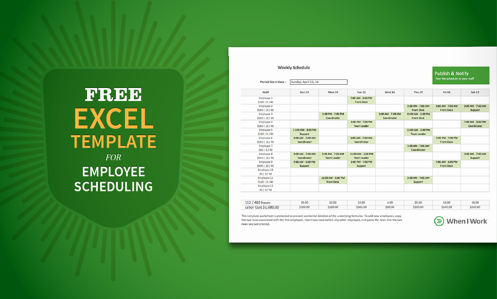 Excel Employee Schedule Template New Free Excel Template for Employee Scheduling
