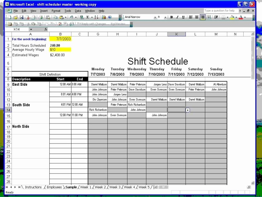 Excel Employee Schedule Template Unique Make Schedules How to Make Employee Work Schedules In