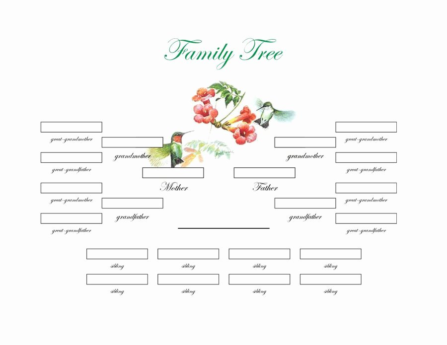 Excel Family Tree Template Awesome Family Tree Printable Free