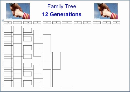 Excel Family Tree Template New Family Tree Charts 12 Generations Emailed Parish Chest