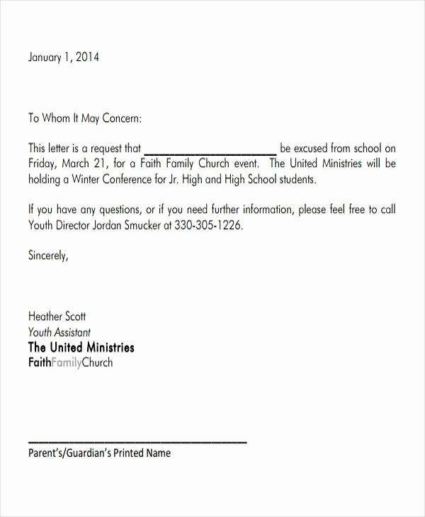 Excuse Note for School Fresh Sample formal Letter format 34 Examples In Pdf Word