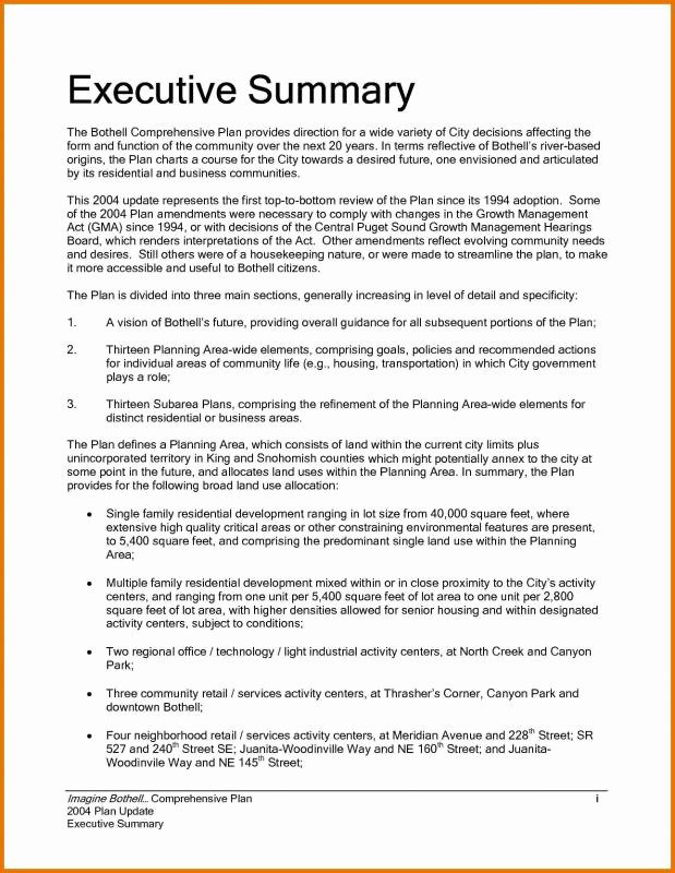 Executive Summary Sample for Proposal Awesome Executive Summary Sample