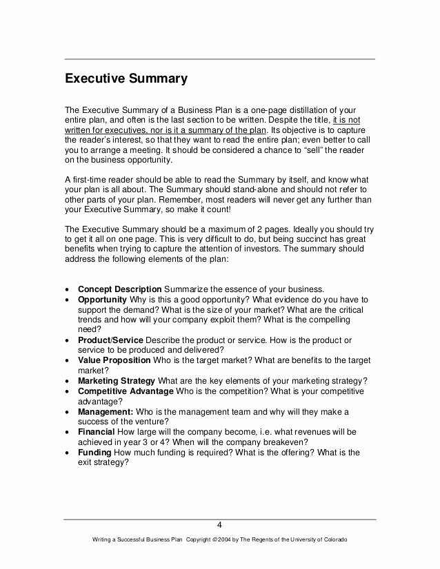 Executive Summary Sample for Proposal Beautiful How to Write An Executive Summary On A Marketing Plan
