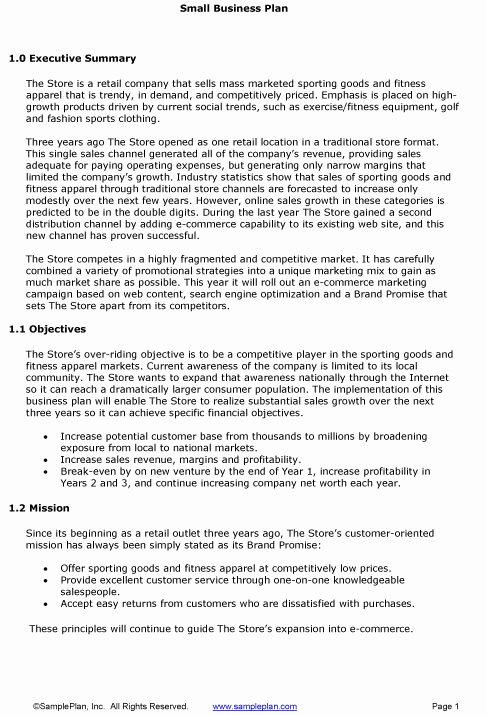 Executive Summary Sample for Proposal Beautiful Sample Business Plan Executive Summary