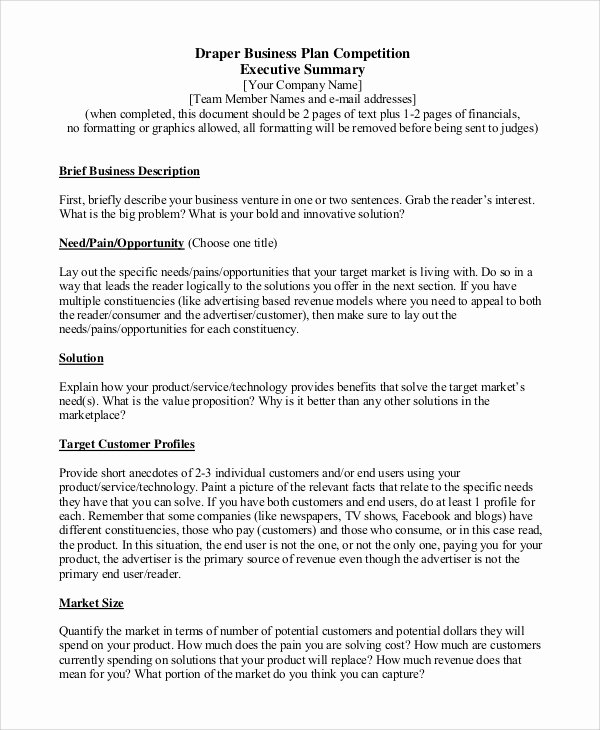 Executive Summary Sample for Proposal Inspirational Sample Executive Summary 8 Examples In Pdf Word