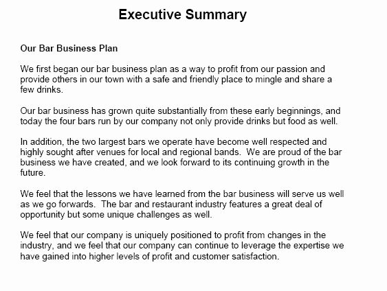Executive Summary Sample for Proposal Lovely 5 Executive Summary Templates Excel Pdf formats
