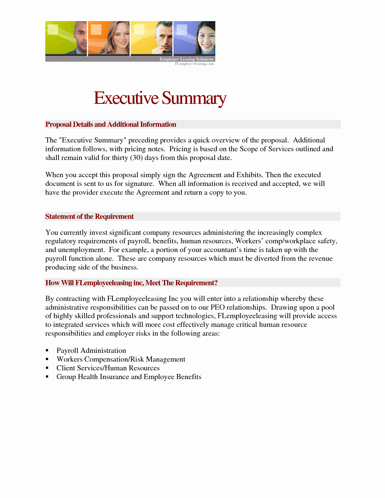 Executive Summary Sample for Proposal Lovely Proposal Template Category Page 3 Efoza