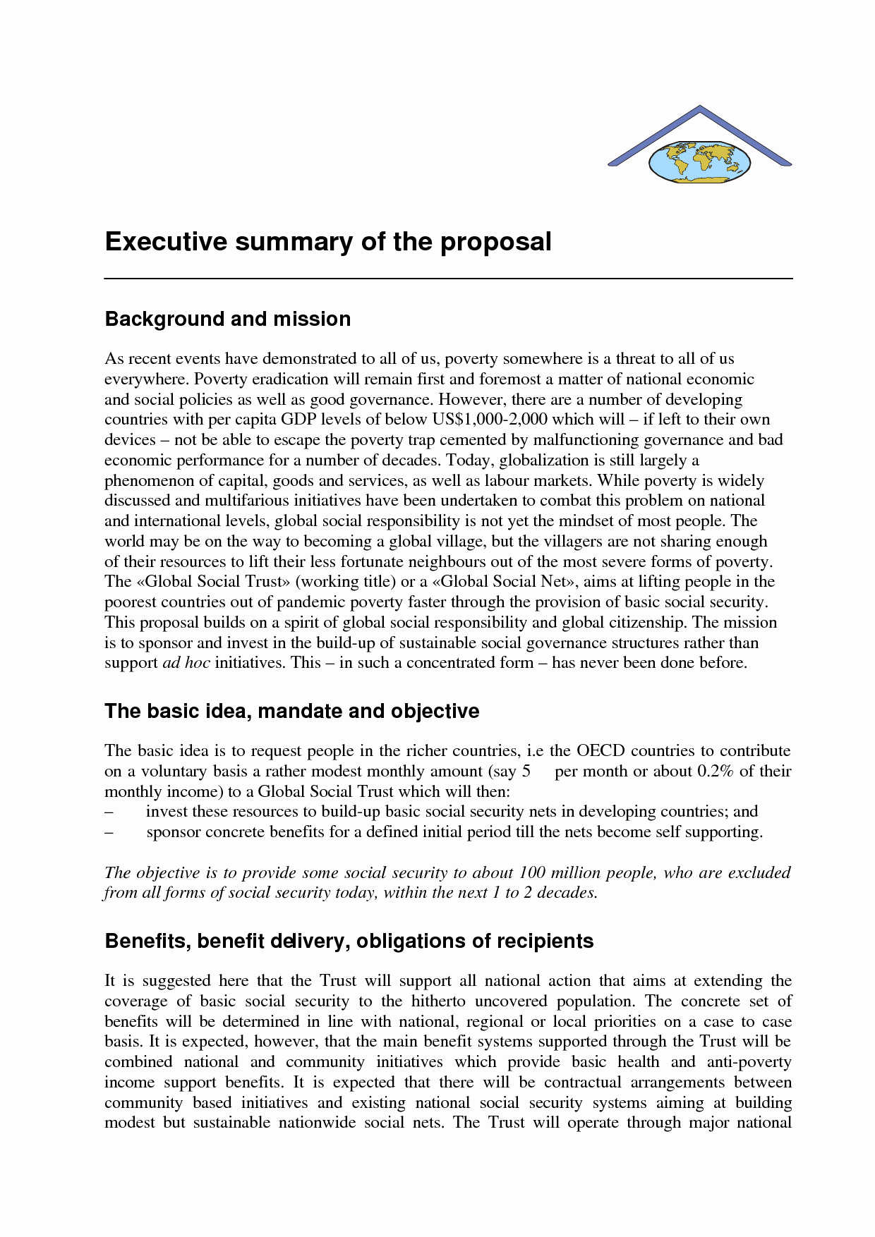 Executive Summary Sample for Proposal Luxury Examples Of Executive Summary for A Business Plan