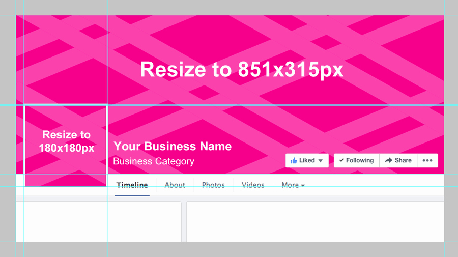 Facebook Business Page Template Awesome Template for Seamless Cover Photo Inlinevision