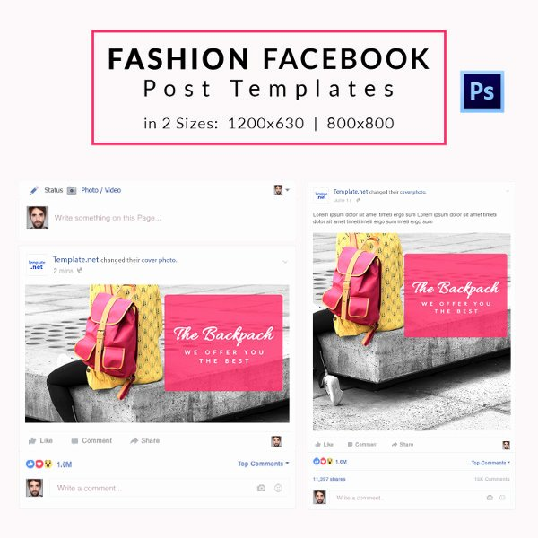 Facebook Business Page Template Best Of 10 Free Post Templates Business Travel