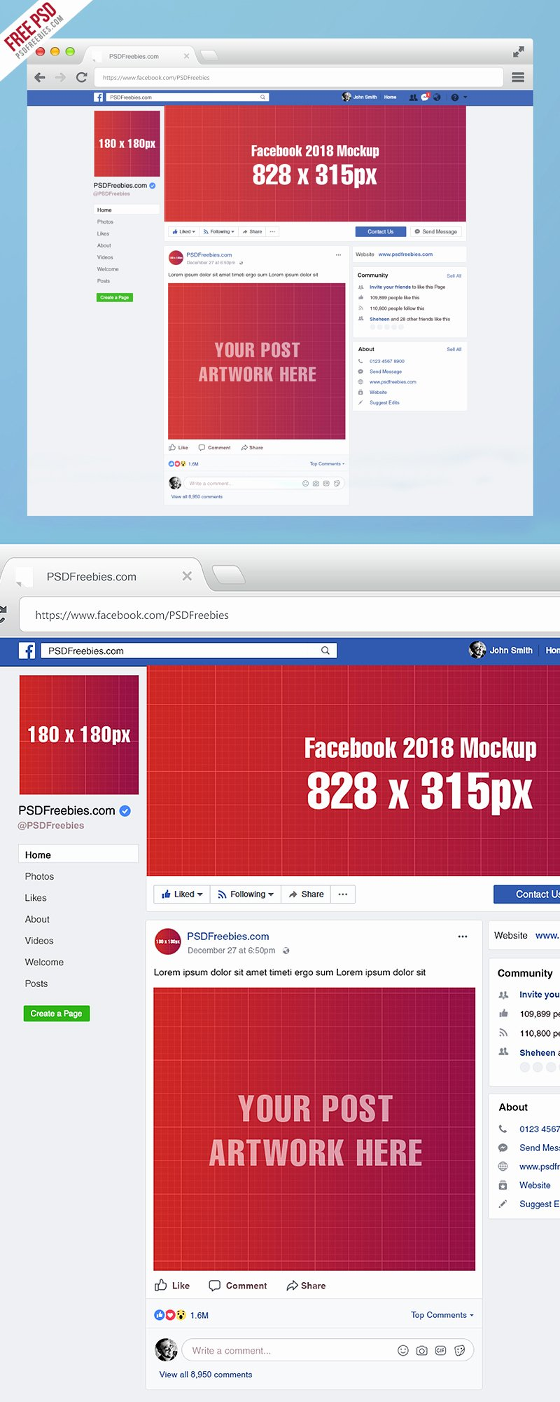 Facebook Business Page Template Best Of Page Mockup 2018 Template Psd On Behance