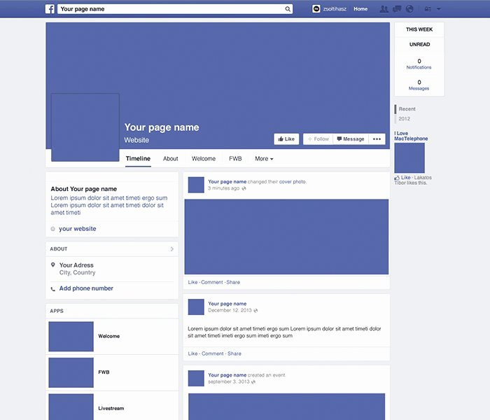 Facebook Business Page Template Elegant Page Template