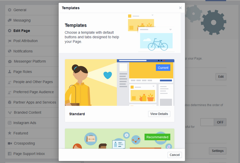Facebook Business Page Template Fresh How to Change Your Page Template