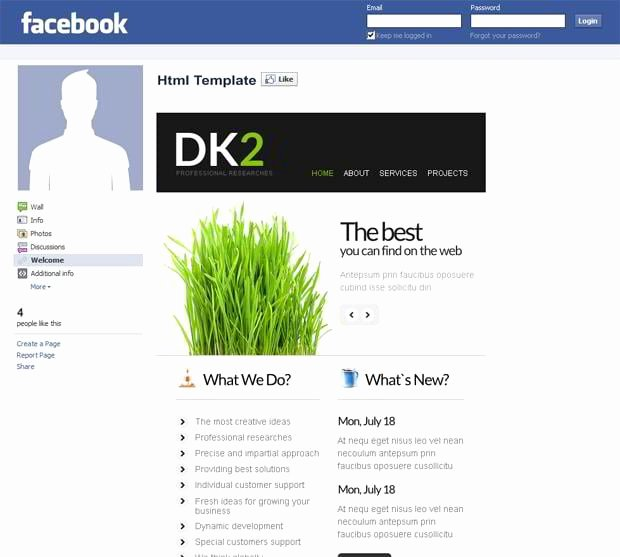 Facebook Business Page Template New Corporate and Business Templates Showcase