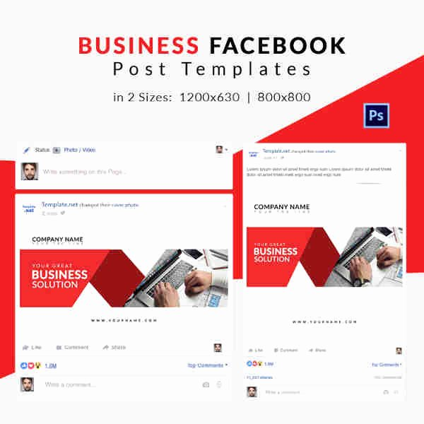 Facebook Business Page Template Unique 10 Free Post Templates Business Travel