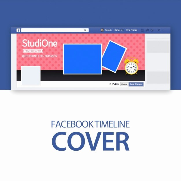 Facebook Cover Photo Template Psd Elegant Cover Template Psd File