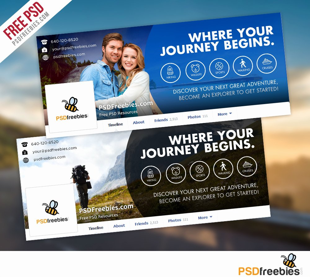 Facebook Cover Photo Template Psd Fresh Travel Timeline Covers Free Psd Templates