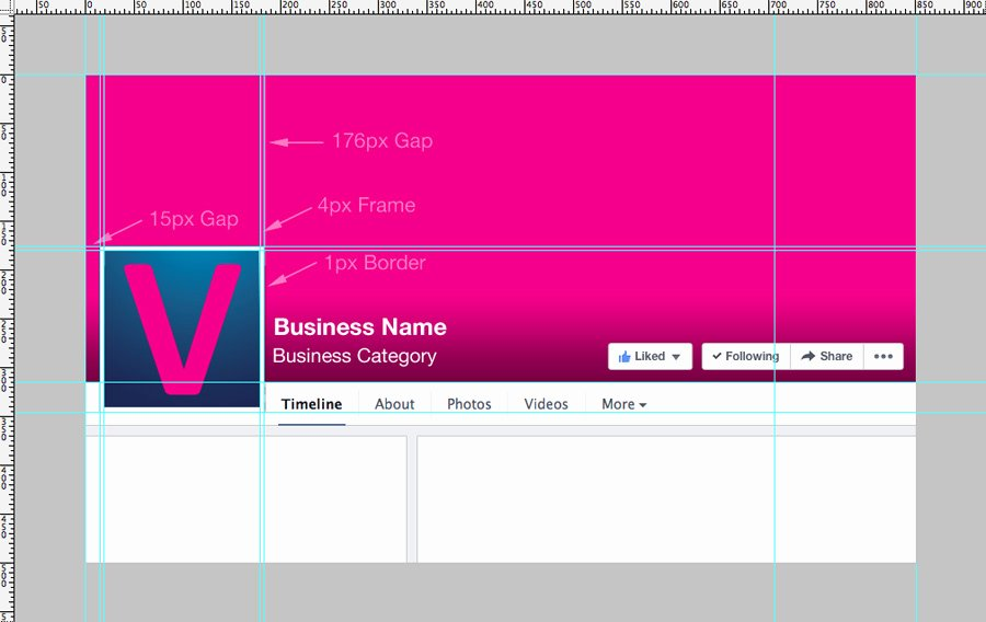 Facebook Cover Photo Template Psd Inspirational Business Page Template Preview with Dimensions