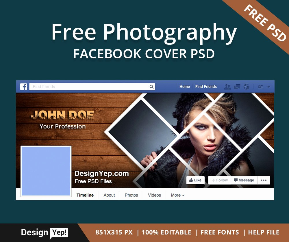 Facebook Cover Photo Template Psd Lovely Free Graphy Timeline Cover Psd Template