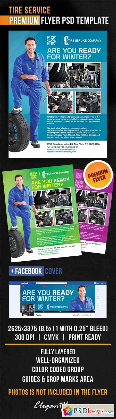 Facebook Cover Template Psd Best Of Tire Service – Flyer Psd Template Cover Free