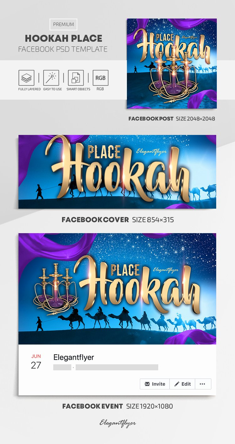 Facebook Cover Template Psd Inspirational Hookah Place – Cover Template In Psd Post