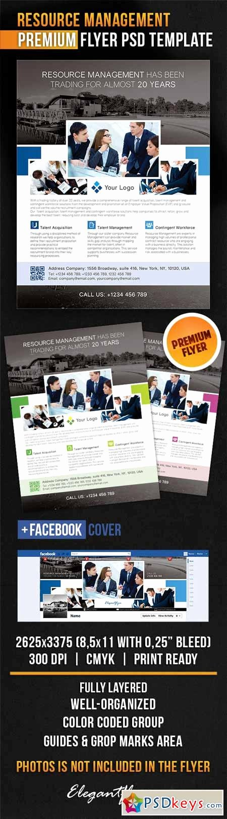 Facebook Cover Template Psd Luxury Resource Management – Flyer Psd Template Cover