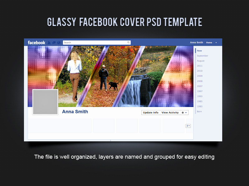 Facebook Cover Template Psd New Glassy Cover Psd Template by Xara24 On Deviantart