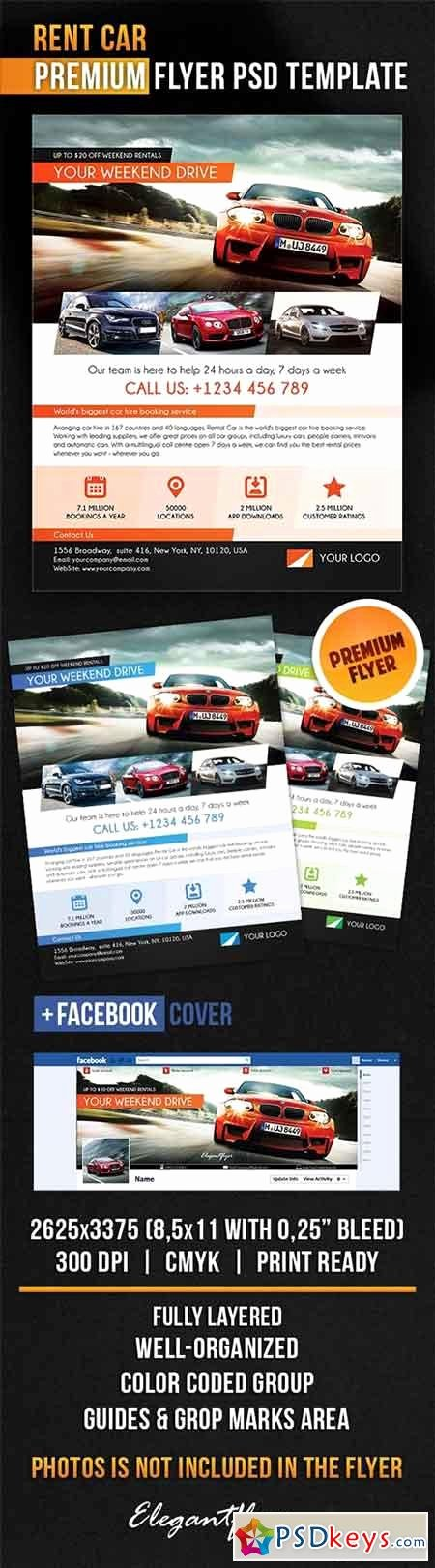 Facebook Cover Template Psd New Rent Car Flyer Psd Template Cover Free