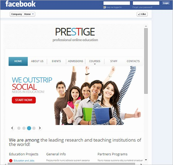 Facebook Template for Students Luxury Template – 49 Free Word Pdf Psd Ppt format
