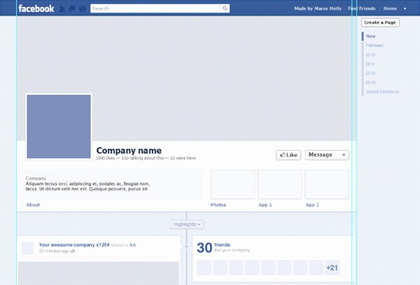 Facebook Template for Students Unique Page Template