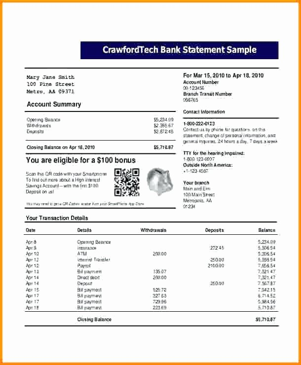 Fake Bank Statement Generator Lovely Fresh Hsbc Bank Statement Template Us Bank Statement