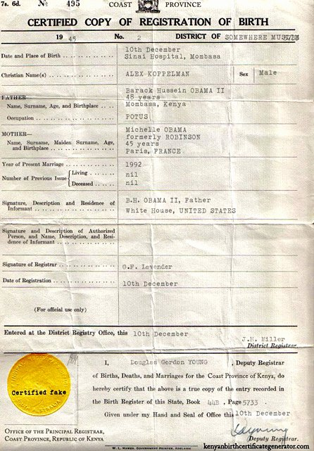 Fake Birth Certificate Maker Beautiful You too Can Have Your Own Kenyan Birth Certificate