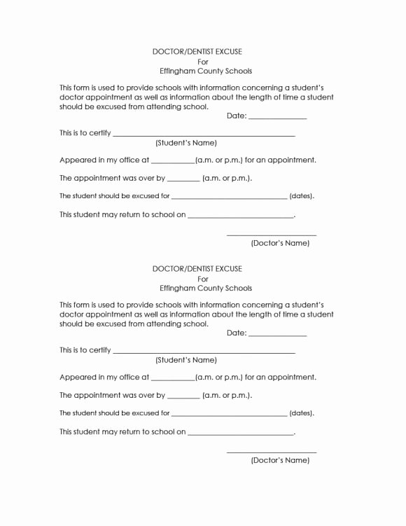 Fake Doctors Note for School Best Of 42 Fake Doctor S Note Templates for School & Work