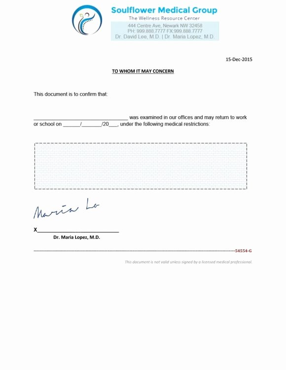 Fake Doctors Note for School Unique 40 Fake Doctors Note Template Download [pdf Doc]