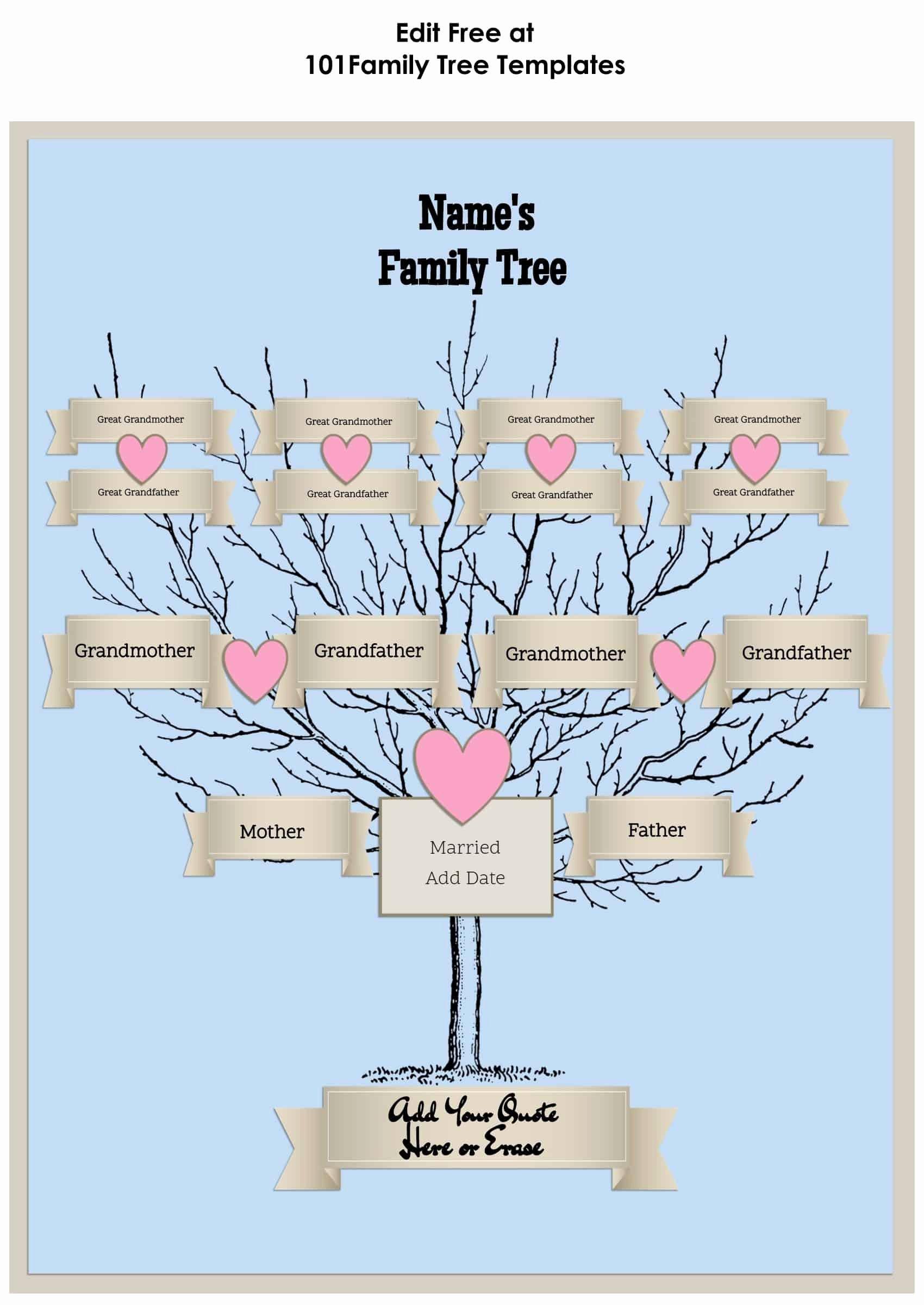 Family Tree Maker Free Online Lovely 3 Generation Family Tree Generator