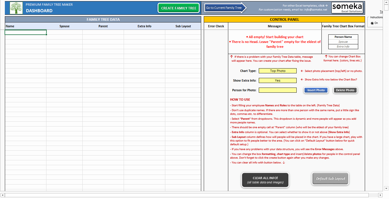 Family Tree Maker Free Online Luxury Family Tree Template Printable Excel Generator with S