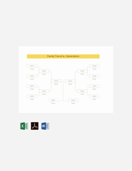 Family Tree Template Google Docs Best Of Free 56 Family Tree Templates In Word Apple