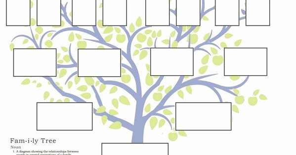 Family Tree Template Google Docs New Free Family Tree Template to Print Google Search