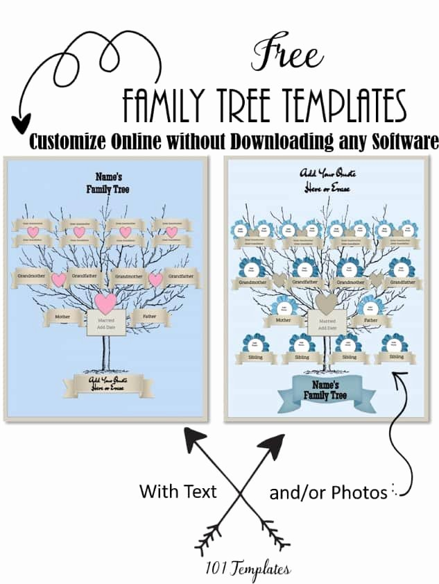 Family Tree Template Online Luxury Free Editable Family Tree Maker Templates