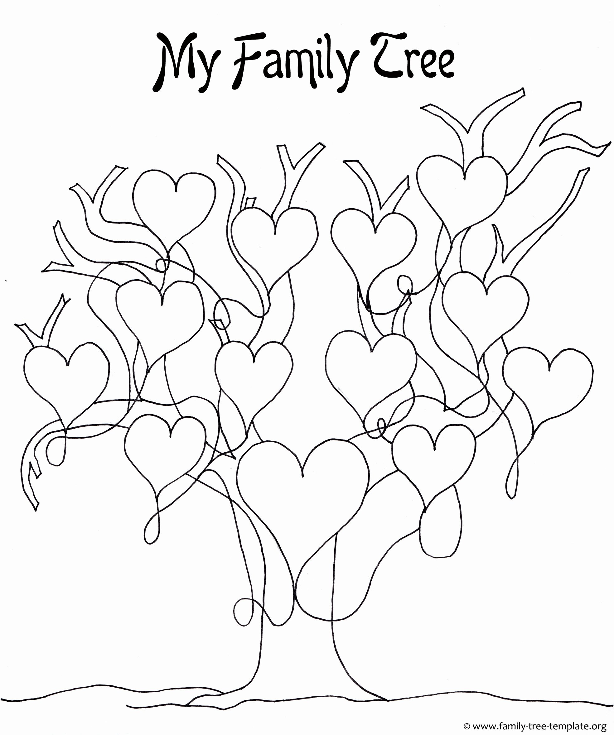 Family Tree Template Online New A Printable Blank Family Tree to Make Your Kids Genealogy